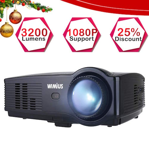 Wimius T4 Proyector Full HD, Proyectores LED 3200 Lúmenes