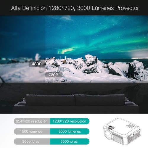 alta definicion 3000 lumenes proyector led