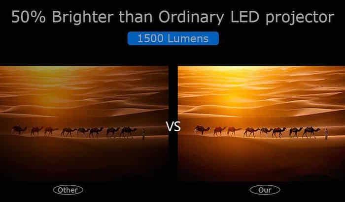 luminosidad lumenes en los proyectores