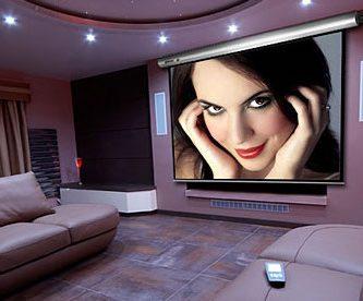 pantalla de cine proyector motorizada